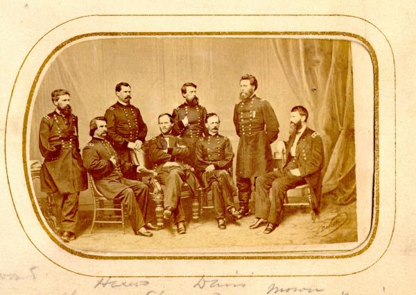 William T. Sherman and staff photograph