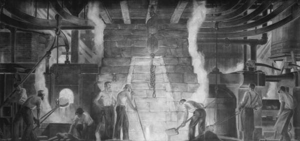 'Romance of Steel, Old' mural photograph