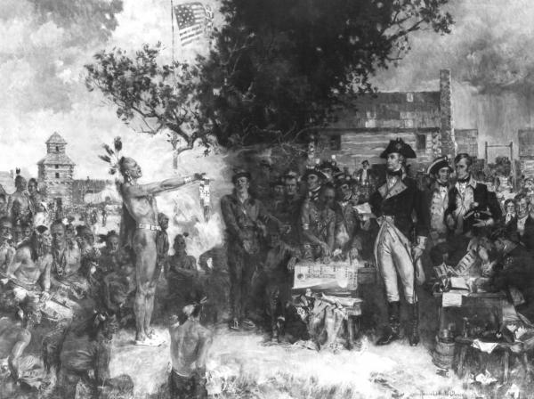 'The Signing of the Treaty of Greeneville' photograph