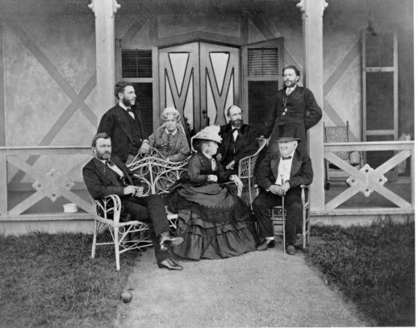Ulysses S. Grant and family photograph