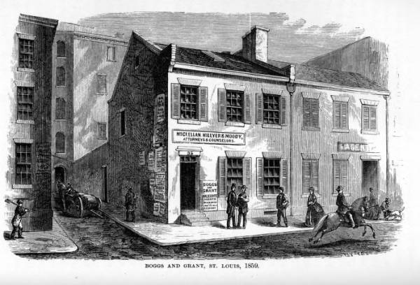 'Boggs and Grant, St. Louis, 1859' illustration