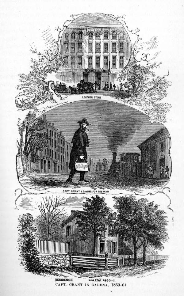 'Capt. Grant in Galena, 1860-1' illustration