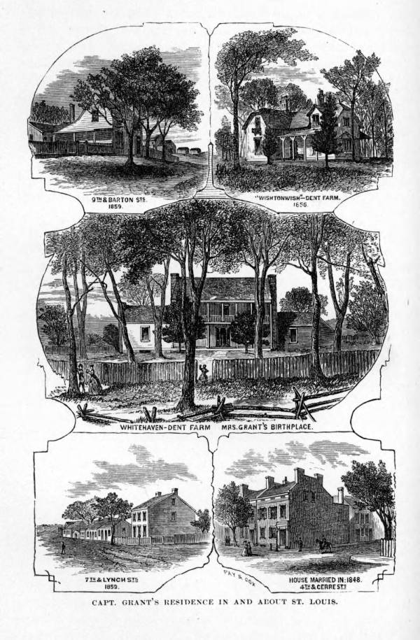 'Capt. Grant's Residence in and about St. Louis' illustration