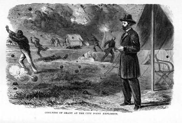 'Coolness of Grant at the City Point Explosion' illustration