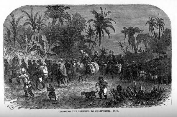 'Crossing the Isthmus to California, 1852' illustration