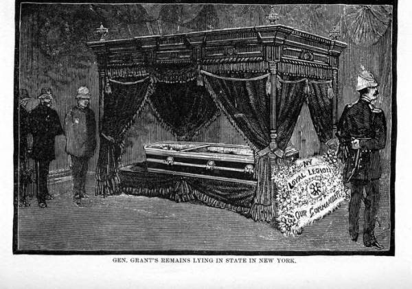 'Gen. Grant's Remains Lying in State in New York' illustration