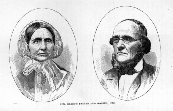 'Gen. Grant's Mother and Father, 1868' illustration