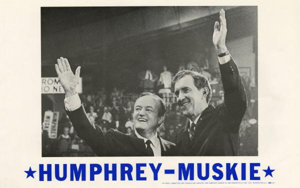 Humphrey-Muskie Presidential campaign poster