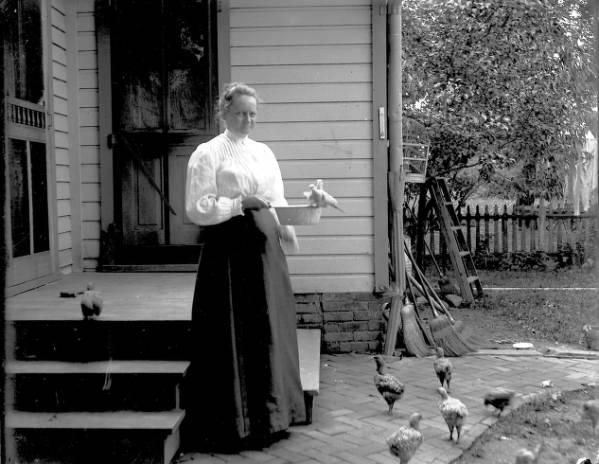 Mrs. Kinley and doves