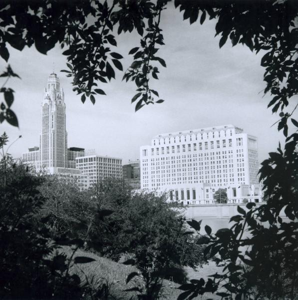 LeVeque Tower across Scioto River photograph