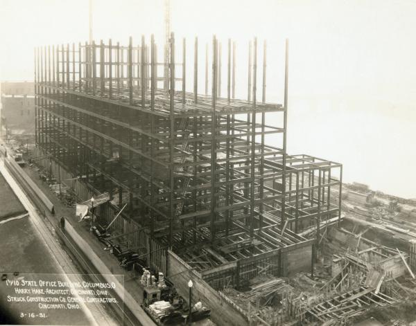 Ohio State Office Building under construction