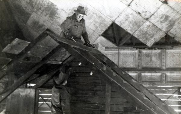 Workers in Grant Cabin photograph