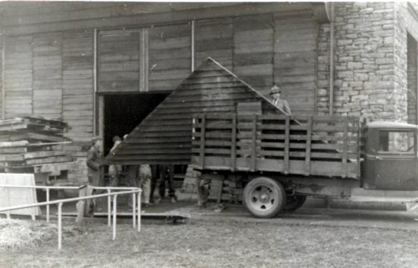 Moving Ulysses S. Grant Cabin photograph