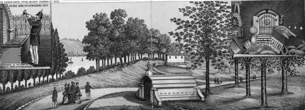 General Ulysses S. Grant's temporary tomb illustration