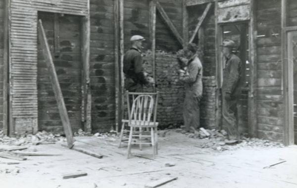 Disassembly of Ulysses S. Grant Cabin photograph