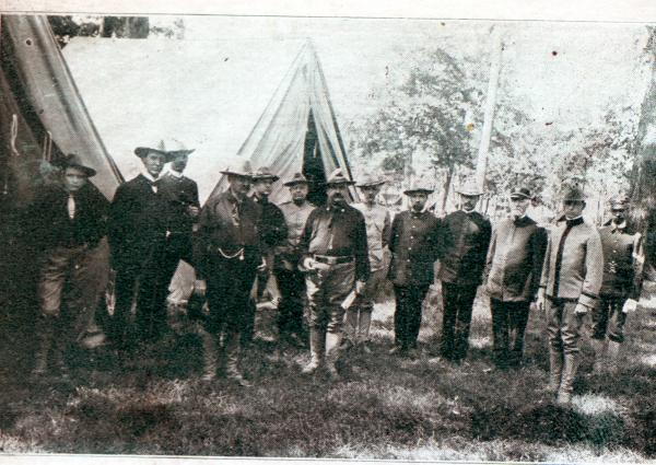 George K. Nash, Charles Dick and staff, National Guard Encampment photograph