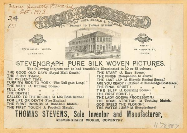 Stevengraph trade label