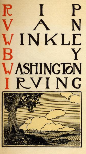 'Rip Van Winkle' title page photograph