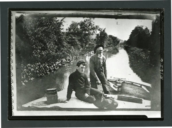 Captain Weirmeyer on the Ohio-Erie Canal photograph