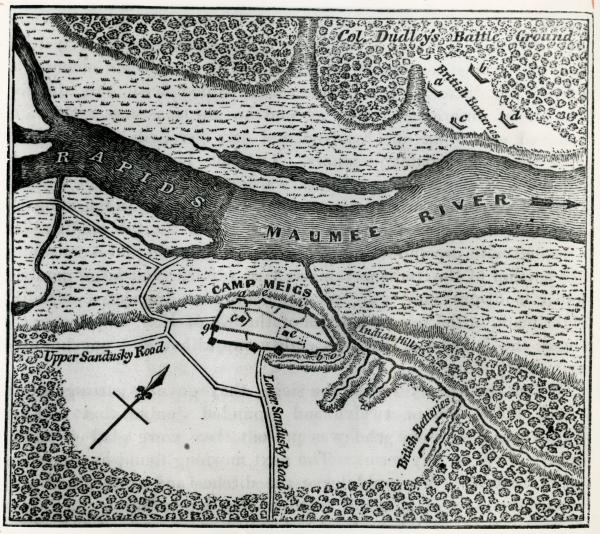 Fort Meigs plan drawing