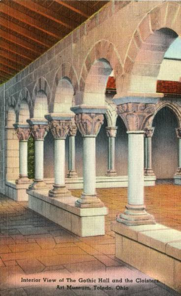 Gothic Hall and Cloisters, Toledo Museum of Art, illustration