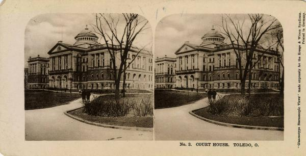 Lucas County Courthouse stereograph