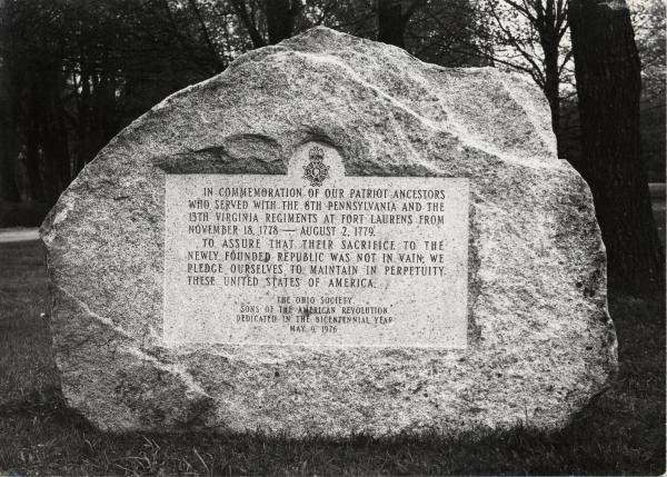 Memorial plaque near Fort Laurens