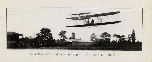 Wright brothers' flight photograph