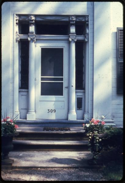 Mathews House entrance photograph