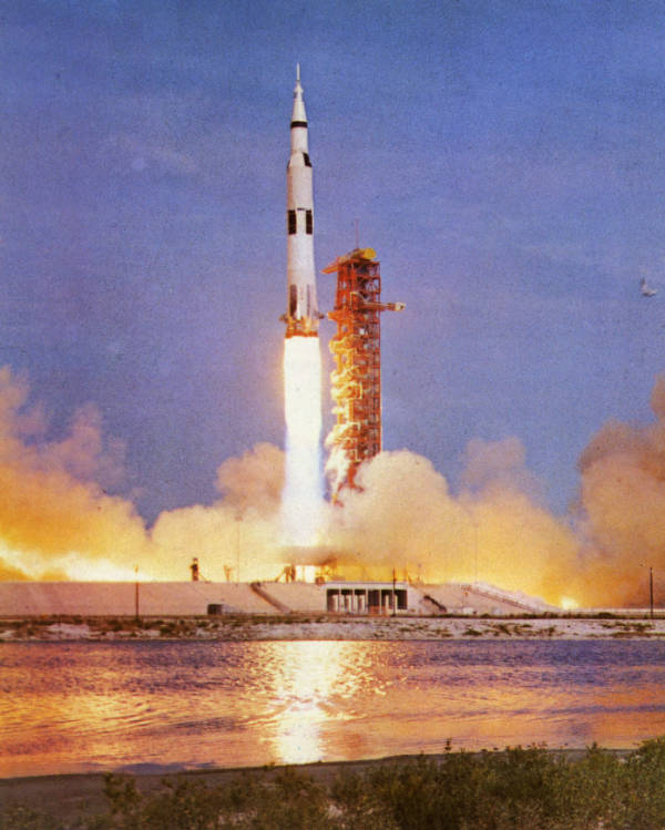 Apollo 11 launch photograph