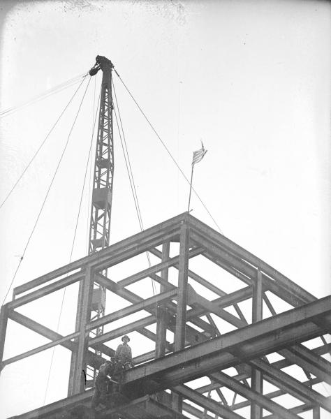 Ohio State Office Building construction photograph