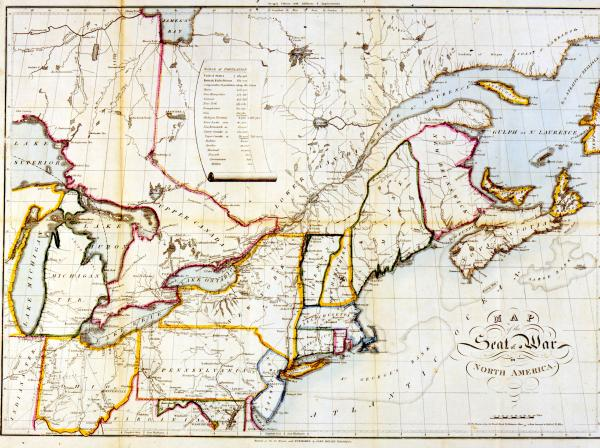 'Map of the Seat of War in North America' print