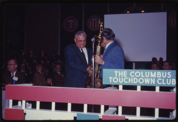 Woody Hayes at the Columbus Touchdown Club photograph