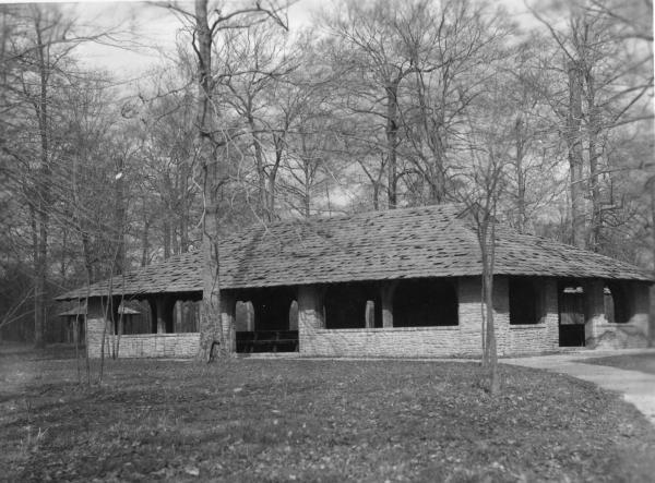 Shelter house, Fort Ancient State Memorial photograph