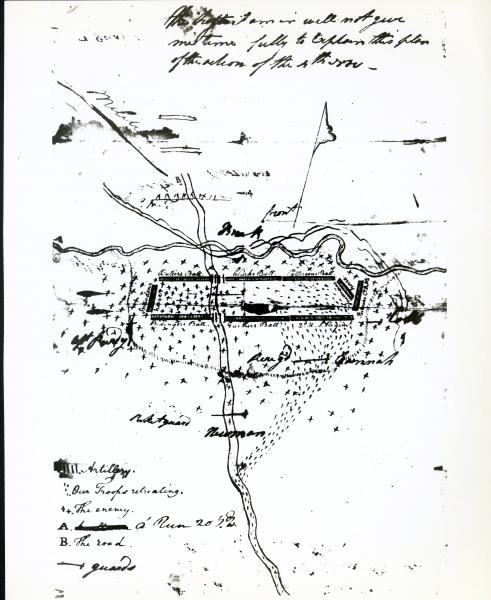 St. Clair's Defeat military map illustration