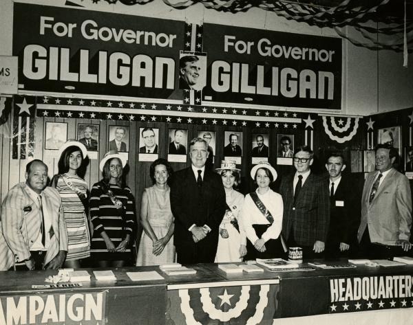 John J. Gilligan campaign headquarters photograph