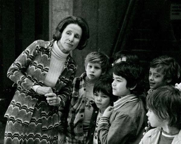 Mary Gilligan with children photograph