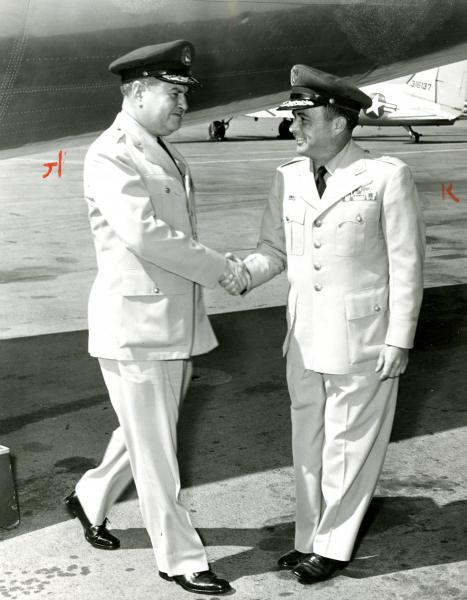 Curtis LeMay and Hewitt Wheless photograph