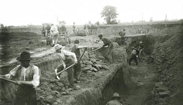 Adena Mound excavation photograph