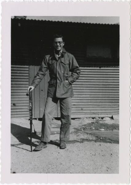 PFC Petrucci outside of Bunker #70