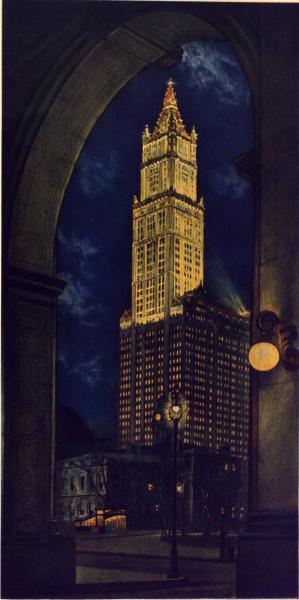 Woolworth Building painting print