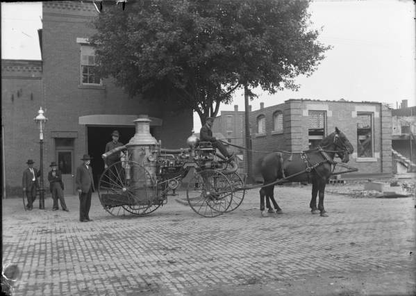 Early fire engine photograph
