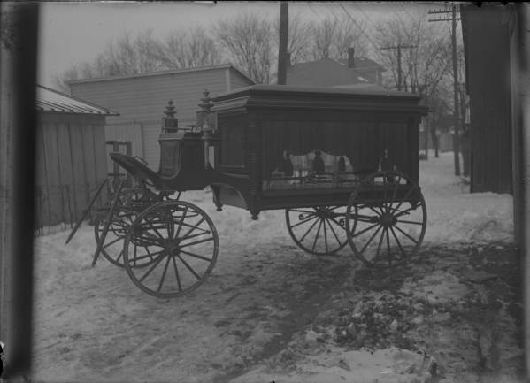 Horse-drawn hearse photograph