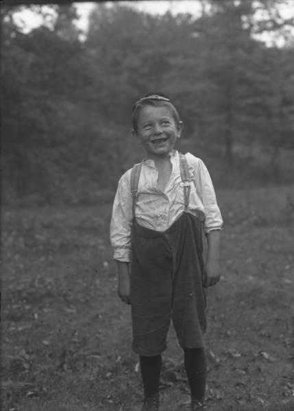 Smiling young boy photograph