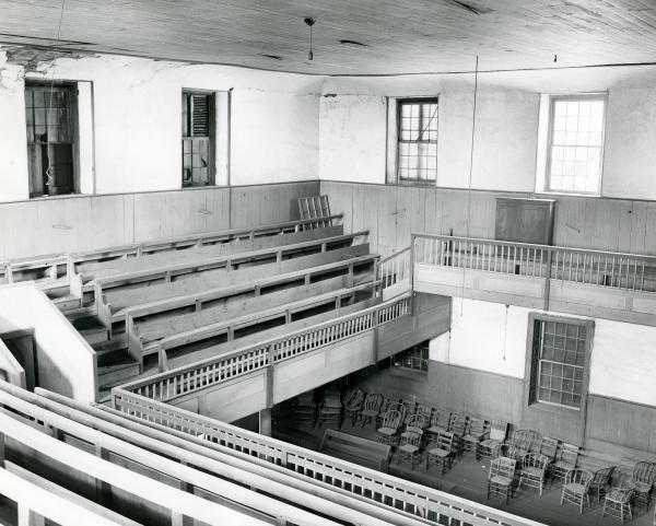Youths' Galleries inside Quaker Meeting House photograph