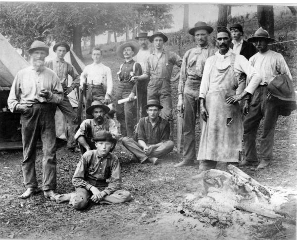 Taylor Mound camp workers photograph