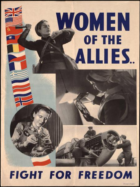 'Women of the Allies' poster