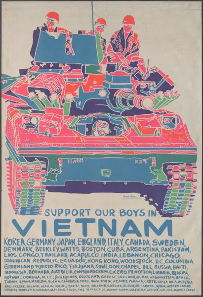 'Support our boys in Vietnam' poster