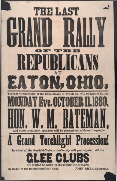 Last Grand Rally of the Republicans broadside