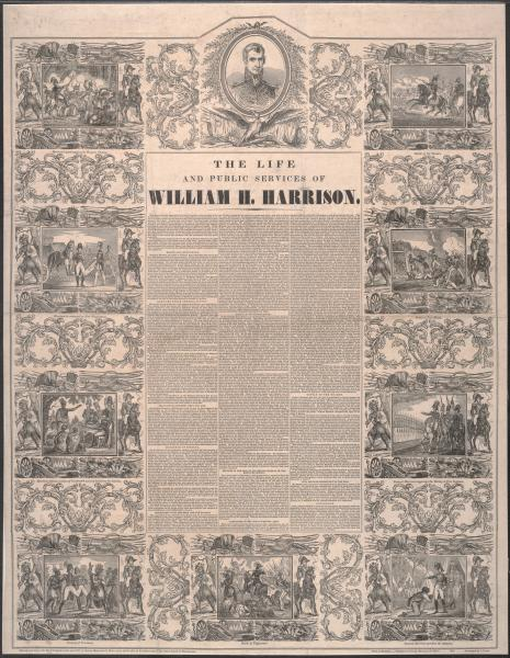 'The Life and Public Service of William H. Harrison' broadside